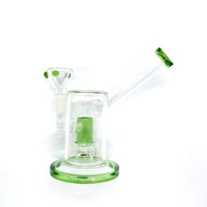 """PURE 6"""" LAVA RING PERC WATER PIPE GLASS GREEN BONG"""