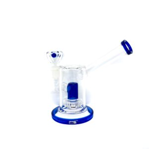 """PURE 6"""" LAVA RING PERC WATER PIPE GLASS BLUE BONG"""